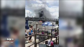 Boat catches fire on Mississippi River near Inver Grove Heights
