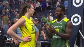 Vikings' Latavius Murray puts fandom of WNBA's Breanna Stewart on display