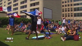 World Cup games draw large viewing parties