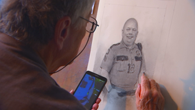 84-year-old man sketches St. Paul police officers