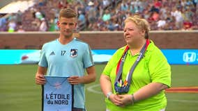 Minnesota United's Collin Martin comes out