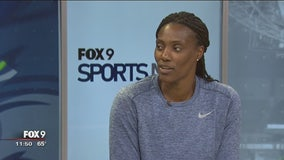 Fox 9's Hobie Artigue chats with Lynx' Sylvia Fowles