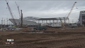 Inside look at progress of the new Allianz Field for the Minnesota United