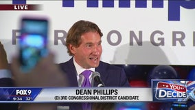 Dean Phillips wins Congressional District 3, gives victory speech