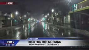 Rain, fog complicating Thursday morning commute