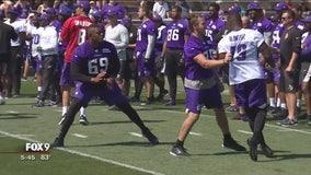 Vikings training camp rages on