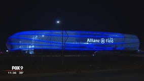 Grass installed as Allianz Field nearing completion
