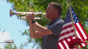 Radio host volunteers to play taps for veterans