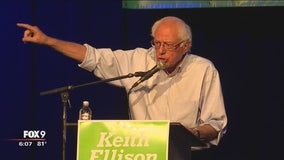 Bernie Sanders attends Minneapolis rally