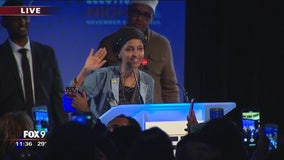 Rep. Ilhan Omar gives victory speech after winning Congressional District 5
