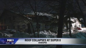 Motel roof collapses in Shakopee