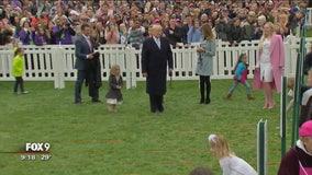 President Trump talks immigration at annual White House Easter egg hunt
