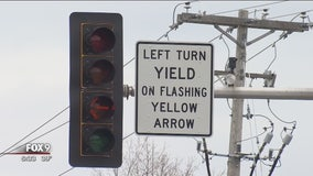 Flashing yellow arrow a factor in 1/2 of crashes at Plymouth intersection