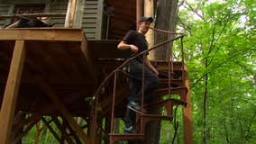 Scream Town owner builds treehouse in his own backyard