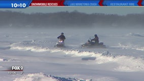 Rescue by snowmobile