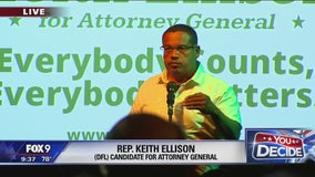 Keith Ellison speaks after winning DFL nomination for Attorney General ticket