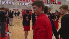 Student honored in basketball game after unsettling discovery earlier this month