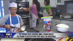 Colby makes pancakes for a good cause in Brooklyn Park, Minnesota