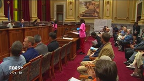 Anti-violence activists made their voices heard at Minneapolis City Hall Thursday