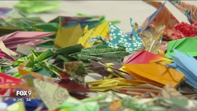 Origami cranes spreading hope for cancer survivors, patients