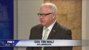 Minnesota Governor Tim Walz stops by FOX 9