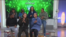 Minnesota Lynx sing for Fox 9