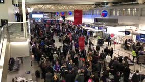 Super Bowl exodus at Minneapolis airport
