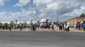 Amazon workers at Shakopee warehouse protest on Prime Day