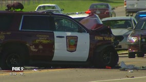 State trooper involved in head-on crash near Lakeville