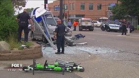6 injured in crash at Minneapolis bus shelter