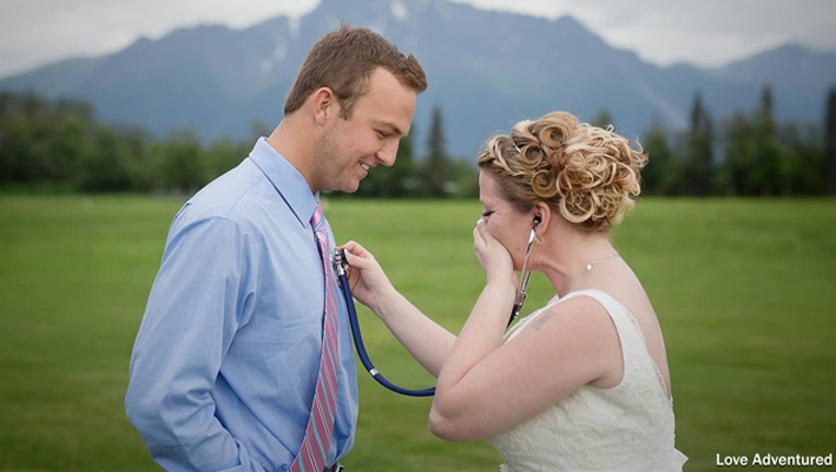 Bride surprised by her late son's heart recipient at wedding-401720