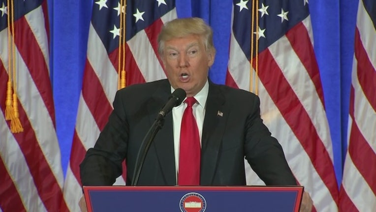 Donald Trump holds first news conference as President ...