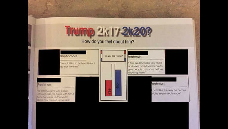 Brainerd HS yearbook Trump quote