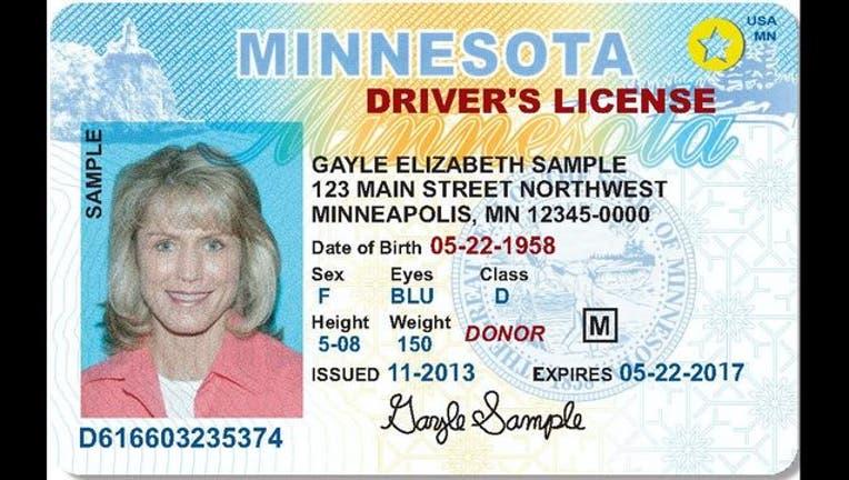 Gayle Elizabeth Sample Minnesota driver's license