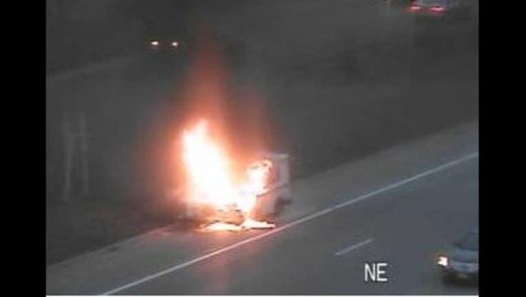 mail truck on fire_1511229347760.JPG