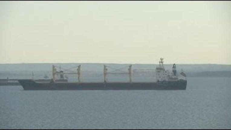 Cornelia cargo ship in Duluth