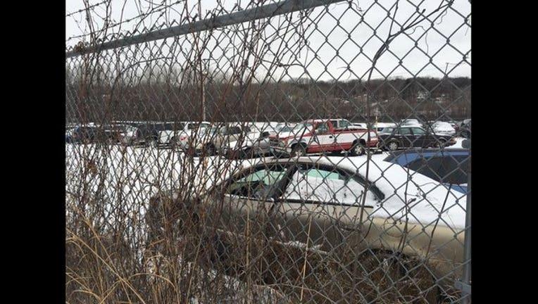 Snow emergency impound lot