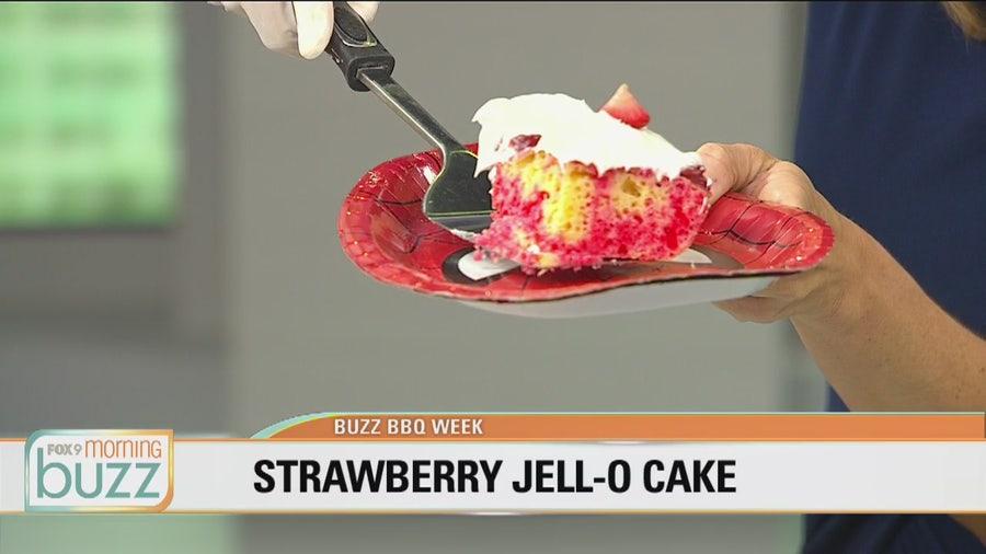 Grandma Chris' strawberry Jell-O cake