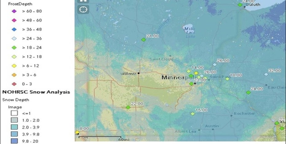 Lack of snow has led to larger frost depths | FOX 9 ...