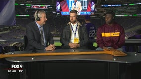Gophers Football players return with axe, show it off on Fox 9 Sports Now