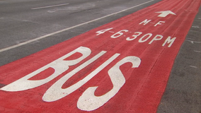 Bright red Hennepin Ave. bus lanes ready for Friday debut in Uptown