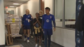USWNT members swing by Lynx practice ahead of match in St. Paul