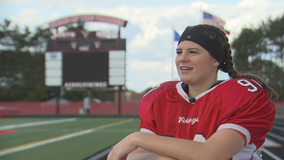 North Branch girls soccer goalie splits time as football team's kicker