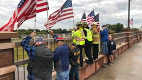 Coon Rapids continues annual 9/11 remembrance tradition on Main Street bridge