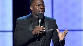 Comedian Kevin Hart and driver suffer 'major back injuries' in crash