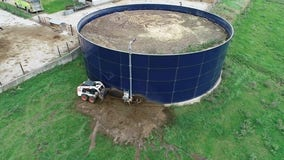 20,000 gallons of liquid manure leak from tank at Albany, Minn. farm