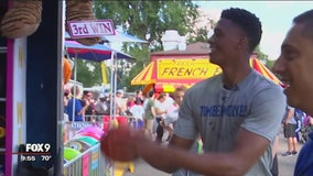 Timberwolves' Culver checks out Minnesota State Fair