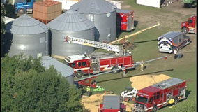 Man dies after getting trapped in grain bin outside Belle Plaine, Minn.