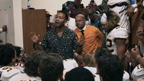 Singer John Legend congratulates Gophers football after win in Fresno, gets game ball
