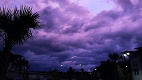 PHOTOS: Florida sky turns purple after Hurricane Dorian